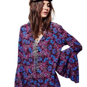Free People Magic Mystery Bell Sleeve Tunic Dress